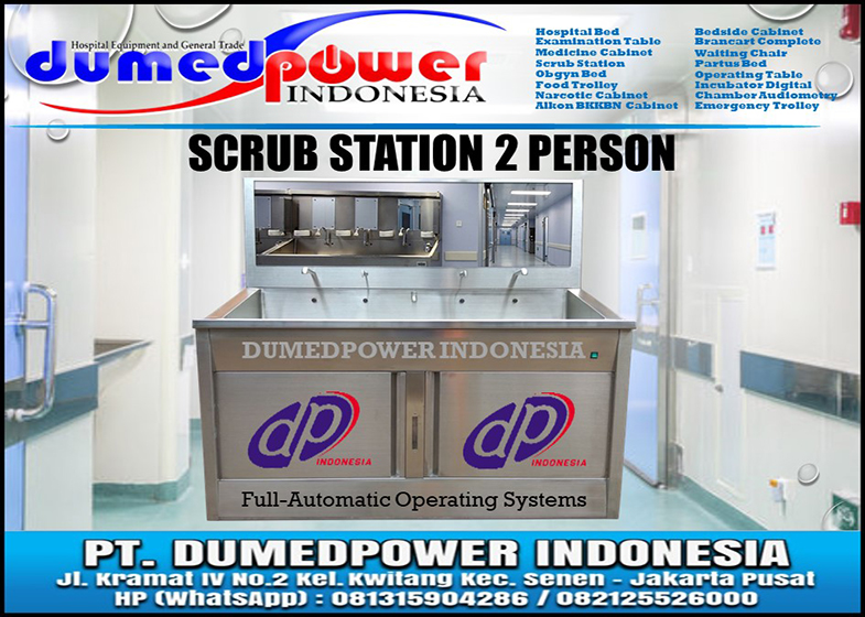 Scrub Station 2 Person Automatic Ruang Kamar Bedah RS