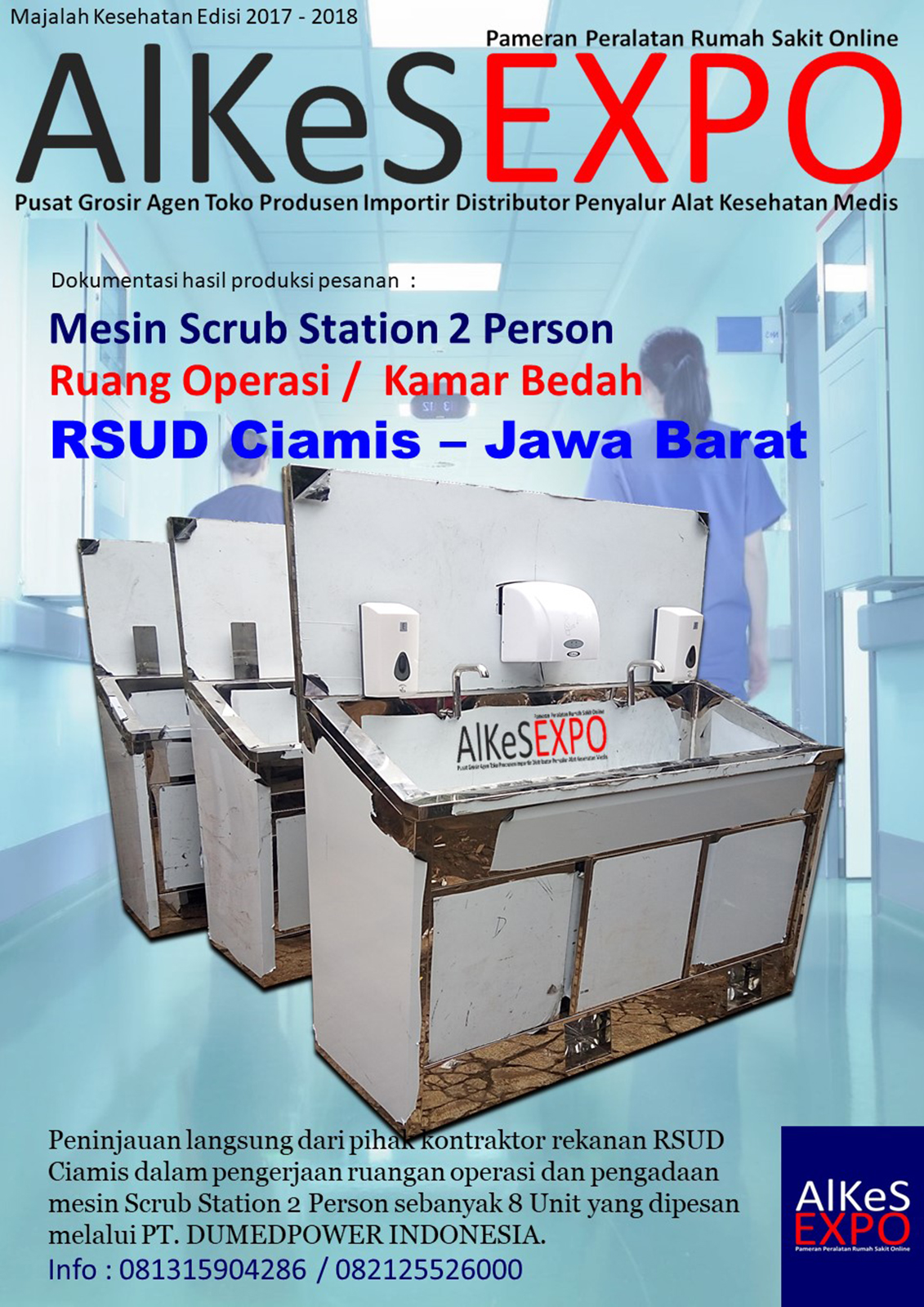 Scrub Sink Station 2 Person Automatic Manual - RSUD Ciamis Jawa Barat