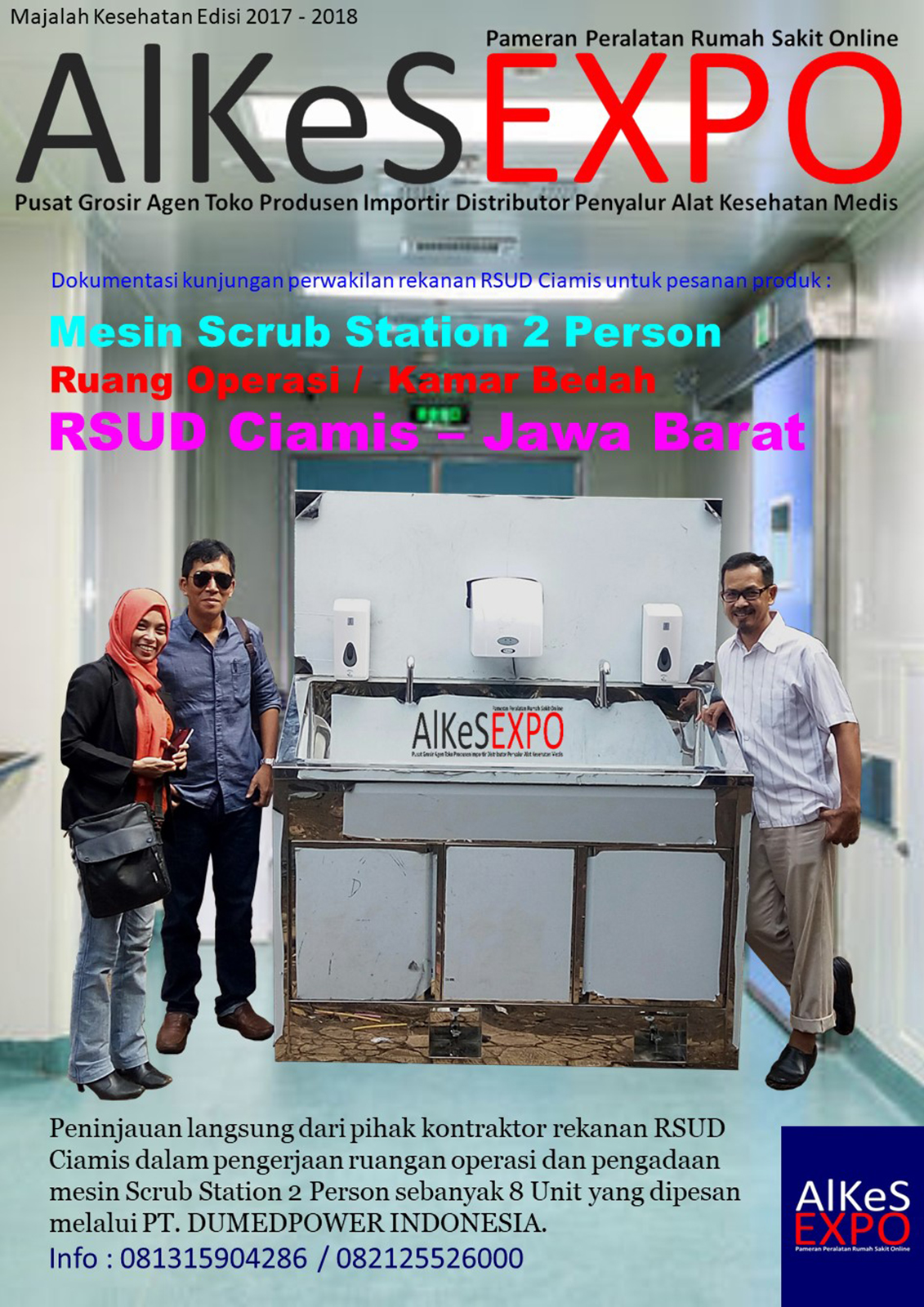 Scrub Station 2 Person Automatic Manual - RSUD Ciamis Jawa Barat 8 Unit Desember 2017