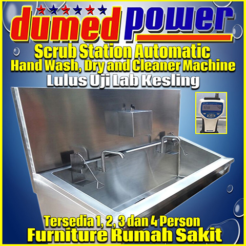 Scrub Station 2 Person Automatic Manual | Penyalur Alat Kesehatan