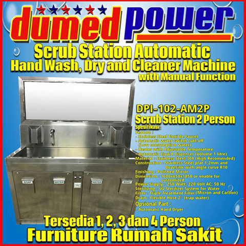 Scrub Station 2 Person Manual Automatic With Heater Ready Inside