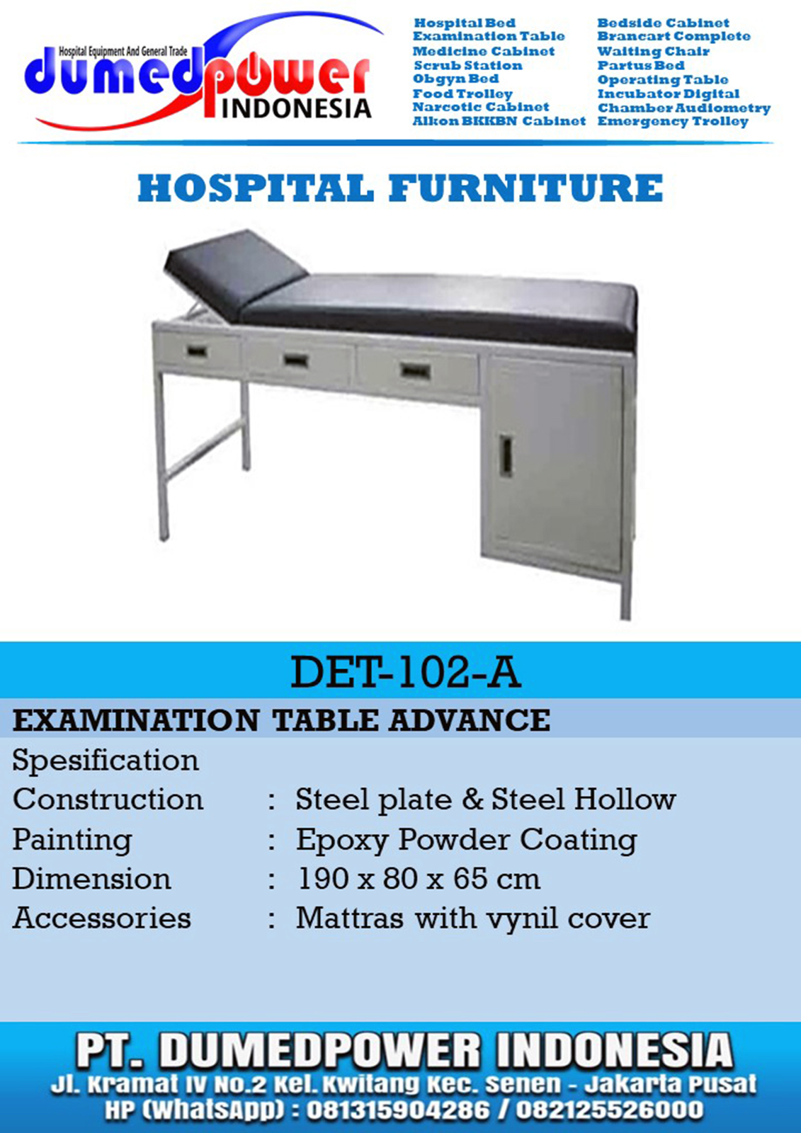 Examination Table Advance DET-102-A