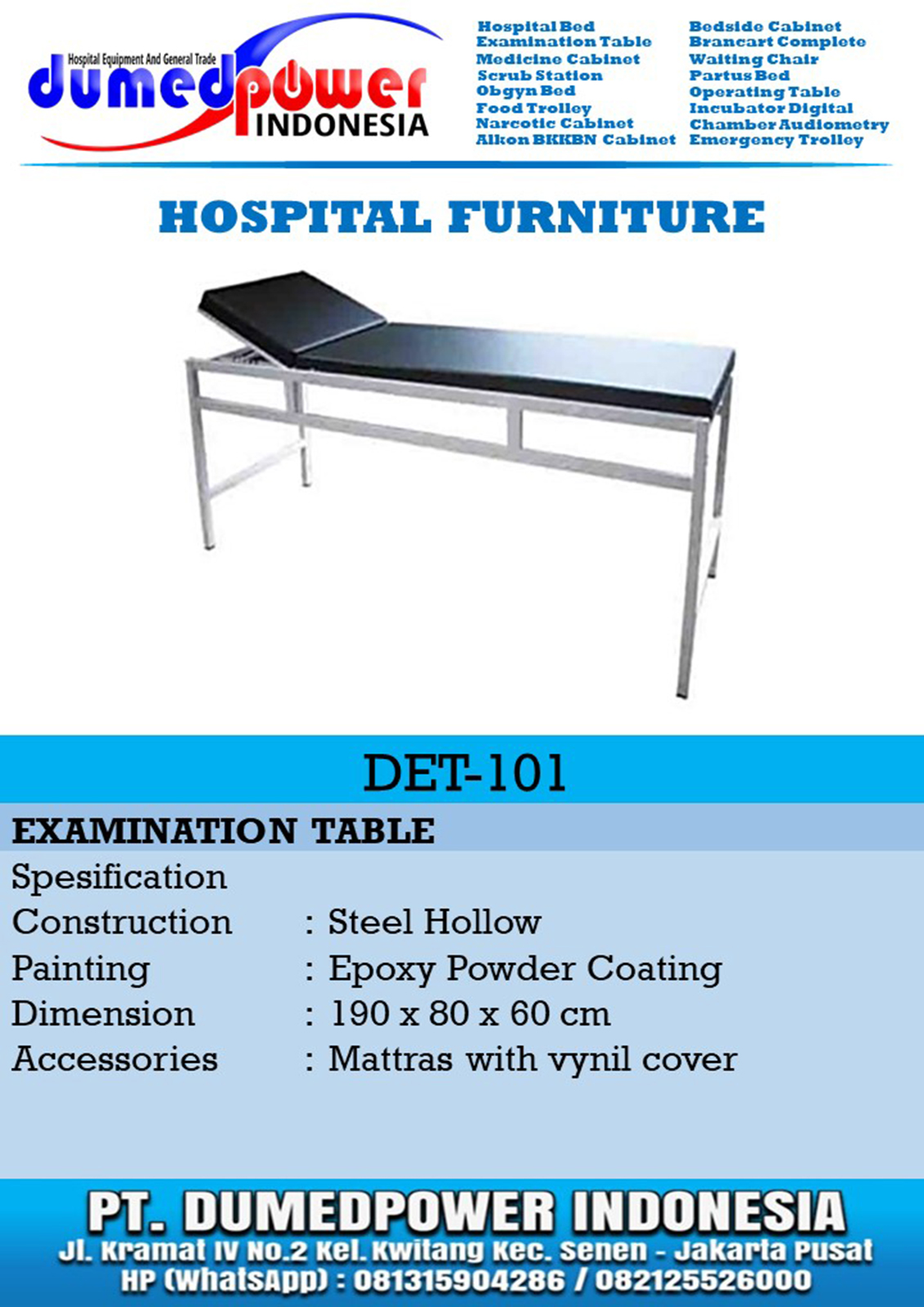 Examination Table DET-10