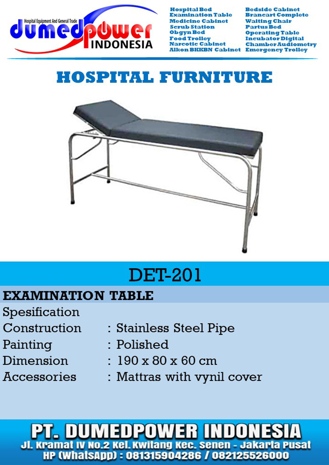Examination Table DET-201