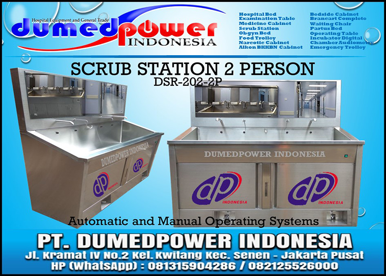 Jual Scrub Station 2 Person - Scrub Up Sink Automatic Manual Harga Murah Baru