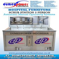 SCRUB STATION / SCRUP UP SINK 2 PERSON AUTOMATIC MANUAL TERBARU 2018