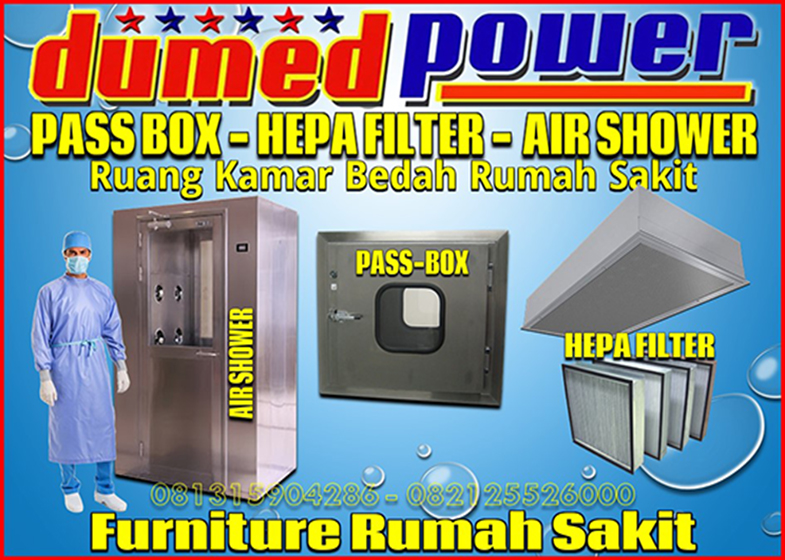 Pass Box - Hepa Filter - Air Shower - Pintu Ruang Kamar Bedah Rumah Sakit - Konsultan Kontraktor